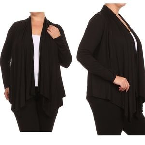 NEW IN PACKAGE long sleeve black cardigan.